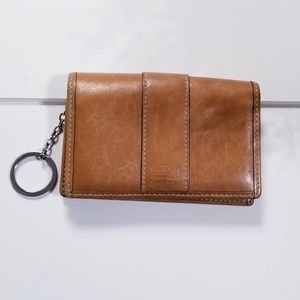 Vintage 90s leather Coach keychain wallet
